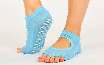 Шкарпетки для йоги і танців без пальців (поліестер, бавовна, PVC, р-р 36-41)