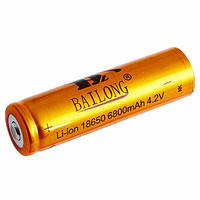 Аккумулятор Li-ion Bailong 4,2V 18650 6800 mAh (Gold), фото 2