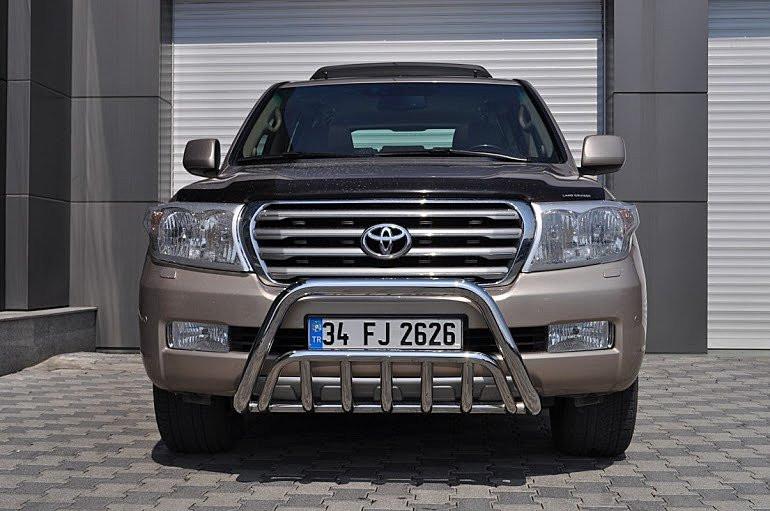 Защита переднего бампера (кенгурятник) Тойота Land Cruiser 200 V8  2008+