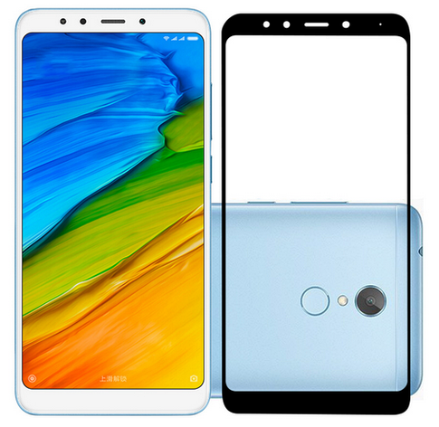 Защитное стекло (3D) White для Xiaomi Redmi 5 белый, фото 2
