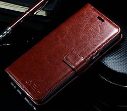 Кожаный чехол-книжка для Samsung Galaxy Note 7 N930 коричневый