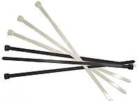 Стяжка кабельная (хомут) 280х4мм, цвет- белый и чёрный, упак.-100шт