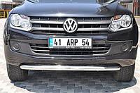Защита переднего бампера (кенгурятник) Volkswagen Amarok 2010+ /Ø76
