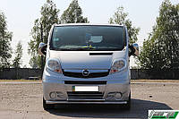 Защита переднего бампера (кенгурятник) Hyundai Santa Fe (2013-) /Ø60/ ус двойной