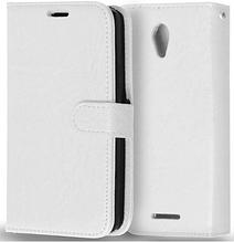 Кожаный чехол-книжка  для Lenovo A5000 белый