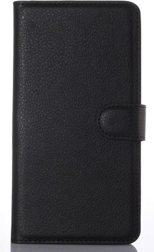 Кожаный чехол книжка для  Nokia Lumia 850 черный