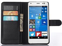 Кожаный чехол книжка для  Nokia Lumia 850 черный, фото 2