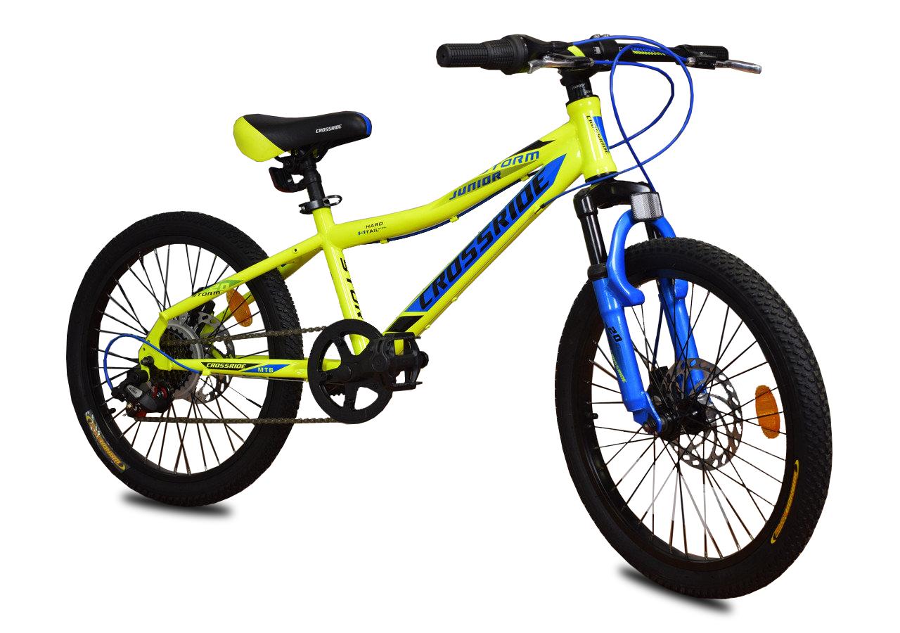 """Дитячий велосипед Crossride STORM R20"""" з дисковими гальмами (Жовтий)"""