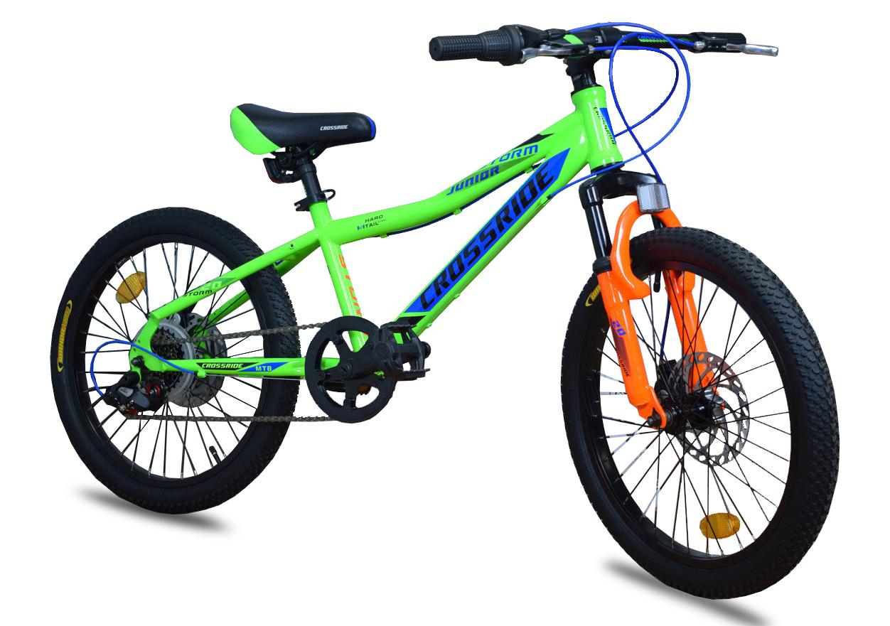 """Детский велосипед Crossride STORM R20"""" с дисковыми тормозами (Салатовый)"""