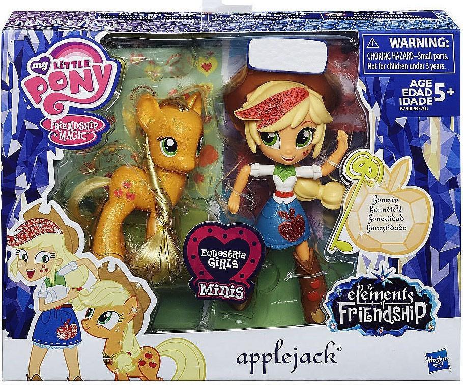 Набор Май лител пони Эпплджек и блестящая пони My Little Pony Applejack & Glitter Pony Element Friendship