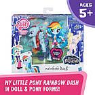 Набір Травень лител поні Мосту Деши блискуча поні My Little Pony Rainbow Dash & Glitter Pony Element Friendship, фото 2