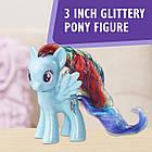 Набір Травень лител поні Мосту Деши блискуча поні My Little Pony Rainbow Dash & Glitter Pony Element Friendship, фото 5