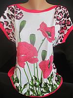 Нарядные футболки с рисунком для женщин., фото 1