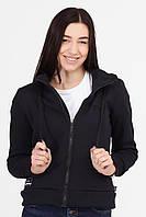 Короткая синяя куртка MOLLY утепленная на меху с капюшоном