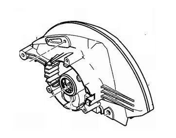 Кришка редуктора до циркулярних пилок HITACHI C7MFA (оригінал)