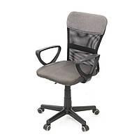 Кресло офисное на колесиках Тезия PL PR серого цвета из ткани
