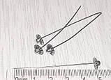 Піни гвоздики з фігурною головкою 5 см срібло античне №5 біжутерні, фото 3