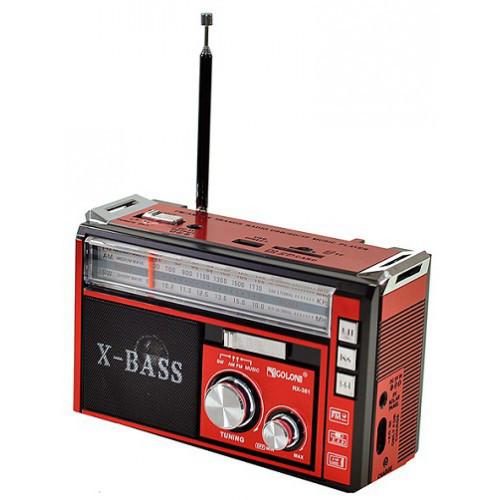 Радиоприемник колонка MP3 Golon RX-381 с фонарем