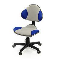Кресло детское на колесиках Фиджет PL FR серо-синего цвета из ткани