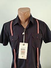 Рубашка мужская летняя коттоновая стрейчевая брендовая высокого качества WEAWER, Турция, фото 3