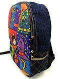 Джинсовый рюкзак котопечворк, фото 2