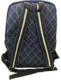 Джинсовый рюкзак котопечворк, фото 3