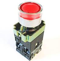 Кнопка  PB2-ВW3461 красная  22mm NO + NC  с LED подсветкой AC/DC230В