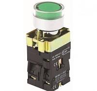 Кнопка  PB2-ВW3361 (3365)  зелёная  22mm  NO + NC c LED подсветкой AC/DC230В