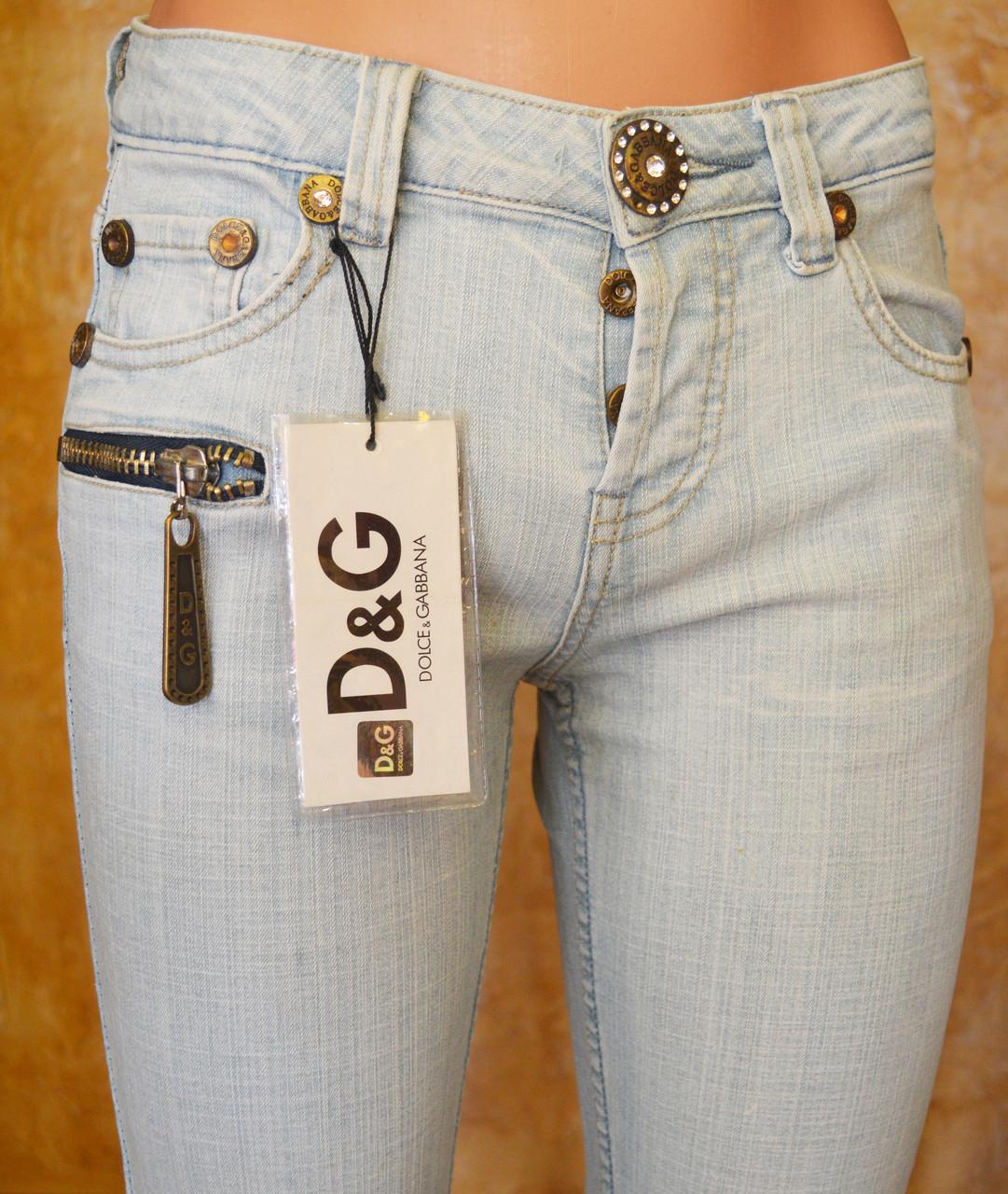 Женские джинсы D&G345 (копия) р.26
