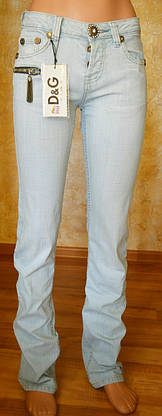 Женские джинсы D&G345 (копия) р.26, фото 2