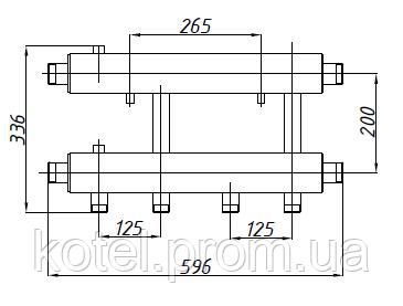 Размеры коллектора СК 242.125