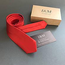 Галстук I&M Craft узкий красный (020302)