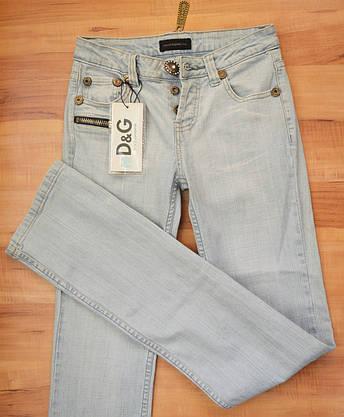 Женские джинсы D&G345 (копия) р.26, фото 3