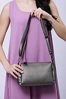 Маленькая дамская сумочка на длинном ремешке из кожзама