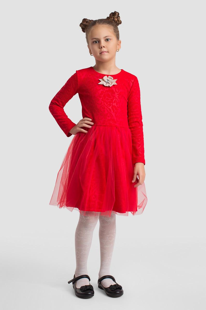 Платье LiLove 2-148 134-140 красный