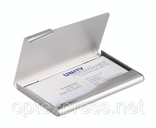 Визитница карманная металлическая BUSINESS CARD BOX  DURABLE 2415 23