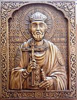 Икона резная Святого князя Владимира