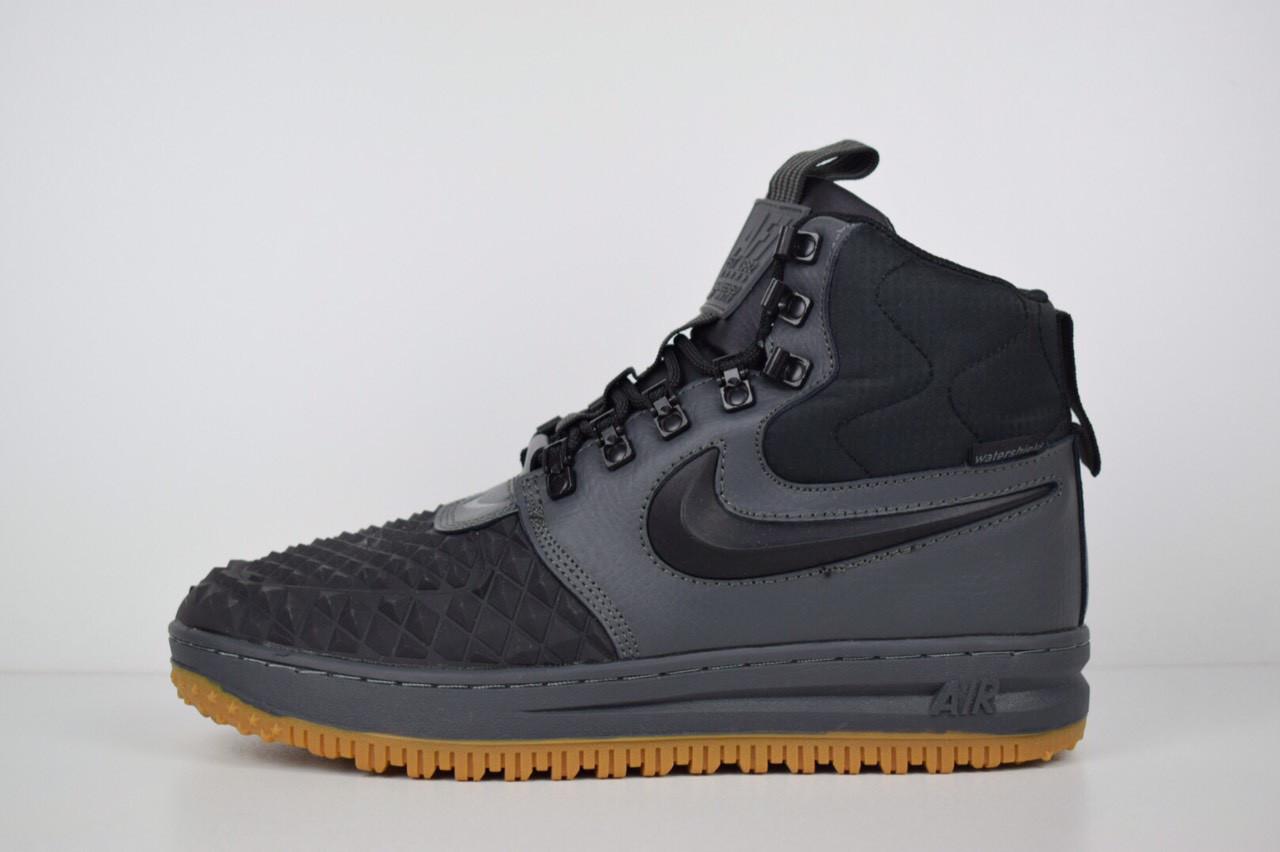 23184f81 Мужские кроссовки в стиле Nike Lunar Force 1 Duckboot, серые с черным