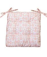 Подушка на стул Прованс 40х40см Візерунок на рожевому
