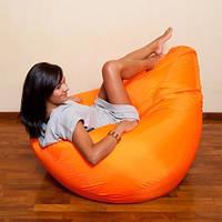 Оранжевое кресло-мешок груша 120*90 см из ткани Оксфорд, фото 1