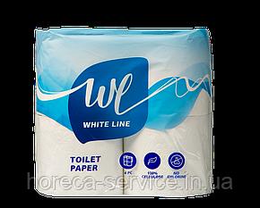 """Туалетная бумага 2 слоя.4 рулона 15 m - ТМ """"White Line """" Украина, фото 2"""
