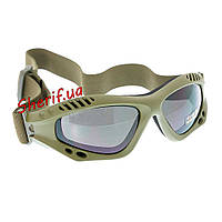 Очки тактика десантные MIL-TEC AIRPRO Olive, 15615301