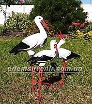 Садовая фигура Семья садовых аистов №12, фото 2