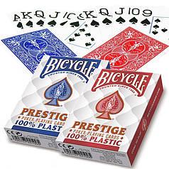 Пластиковые игральные карты | Bicycle Prestige Poker 100% Plastic