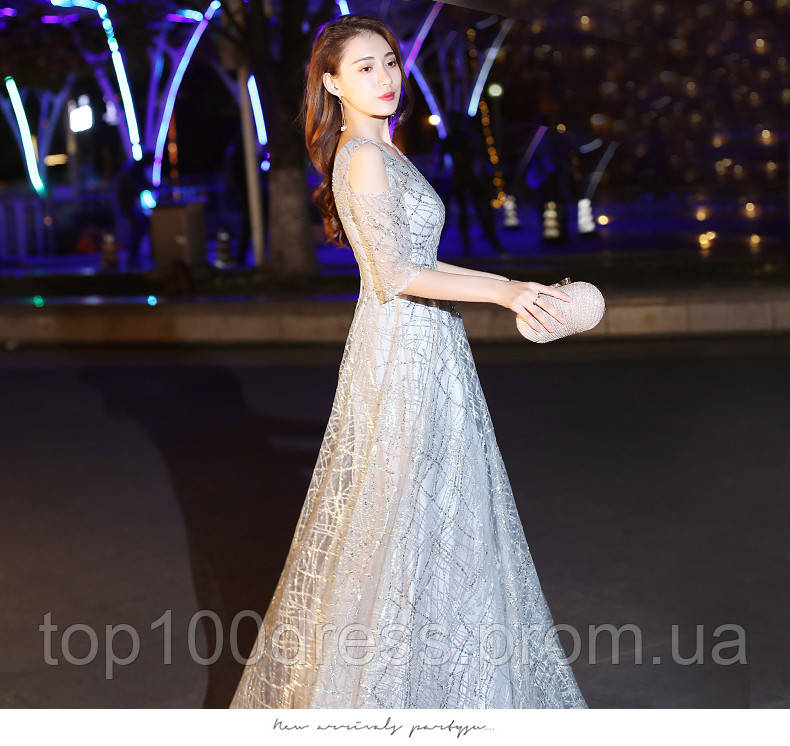 b89c6edbcff Серебряное вечернее платье