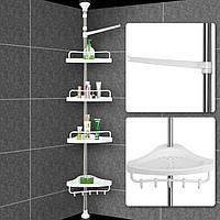 Угловая полка для ванной комнаты Multi Corner Shelf, металлическая