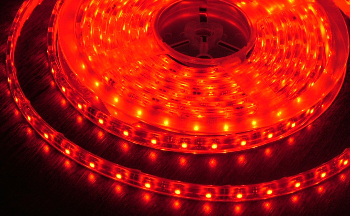 Светодиодная LED лента 3528 Красная 60RW 12V