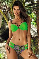 Двухцветный раздельный купальник Samantha в цветочный принт