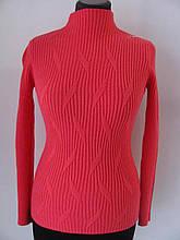 Джемпер жіночий кашеміровий з фігурною вузький, тонкий, але теплий варіант для холодів, р. УН(46-50), Код 4433М