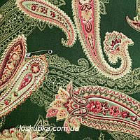 33023 Пейсли. Натуральный хлопок. Ткани для индивидуального пошива вечернего платья. Ткань с позолотой.